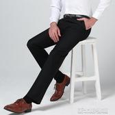 西裝褲男士西褲秋季修身型青年英倫商務休閒職業定制西裝褲伴郎正裝褲子 新北購物城