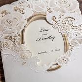 請柬-結婚請帖高檔繁體創意婚禮可打印定制燙金英文請柬喜帖-凡屋
