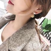 耳環  簡約時尚氣質s925銀耳環女超仙潮人百搭珍珠兩戴耳墜創意個性甜美