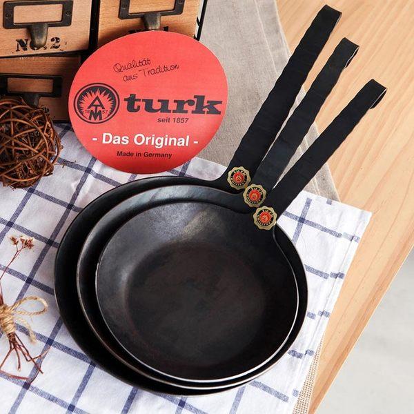 德國 turk鐵鍋 長柄 26cm經典一體成型 熱鍛平底鍋