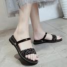 坡跟涼鞋 涼時尚外穿新款韓版個性軟妹涼拖外出坡跟女鞋【快速出貨八五鉅惠】