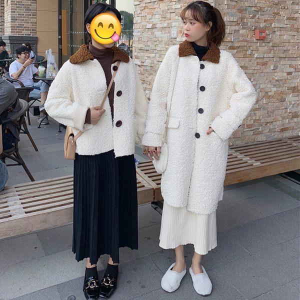 大衣外套【艾美天后】加厚羽絨棉連帽棉襖大衣外套女