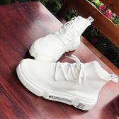 厚底街舞嘻哈女鞋子潮超火襪子鞋韓版高筒休閒運動鞋女 麥吉良品