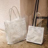 仙女包包女2019新款韓國蕾絲手提購物袋復古夏天刺繡托特包單肩包