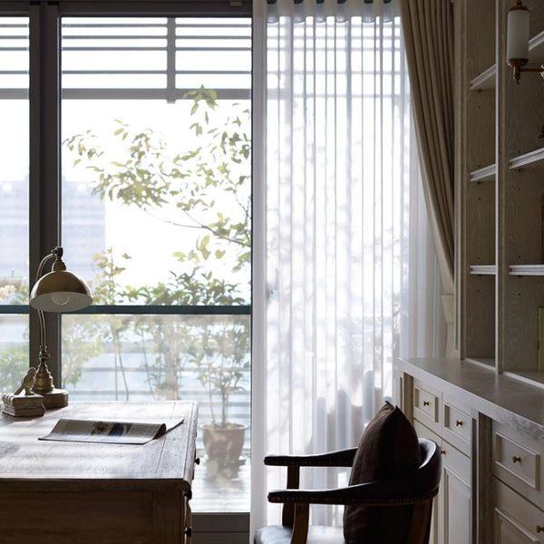 窗簾  簡約現代定制純色落地窗窗簾成品紗遮陽布料全遮光布臥室客廳加厚韓先生
