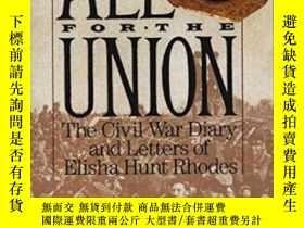 二手書博民逛書店All罕見For The UnionY256260 Elisha Hunt Rhodes Vintage 出