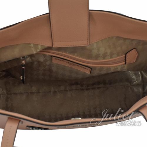 茱麗葉精品【全新現貨】 KARL LAGERFELD 卡爾 貓咪臉牛皮肩背托特購物包.裸色