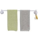 毛巾架 吸盤式單桿毛巾架免打孔浴巾架浴室衛生間掛毛巾架子廚房晾毛巾桿