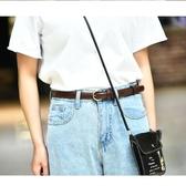 復古簡約百搭女士皮帶針扣韓版韓國學生bf風連衣裙細褲腰帶裝飾潮