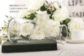 日繫錘紋小透明玻璃花瓶 簡約創意水培插花花器 小清新干花瓶擺件  樂芙美鞋