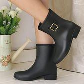 時尚中筒女雨鞋女水鞋防滑雨靴膠鞋
