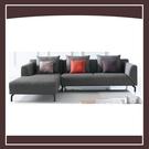 【多瓦娜】優庫L型沙發(面左)(含抱枕) 21152-425003