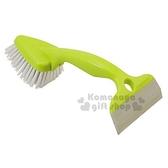 〔小禮堂〕日製三角多功能刮水清潔刷《綠.雙頭.三角》刮水板 4995021-12059