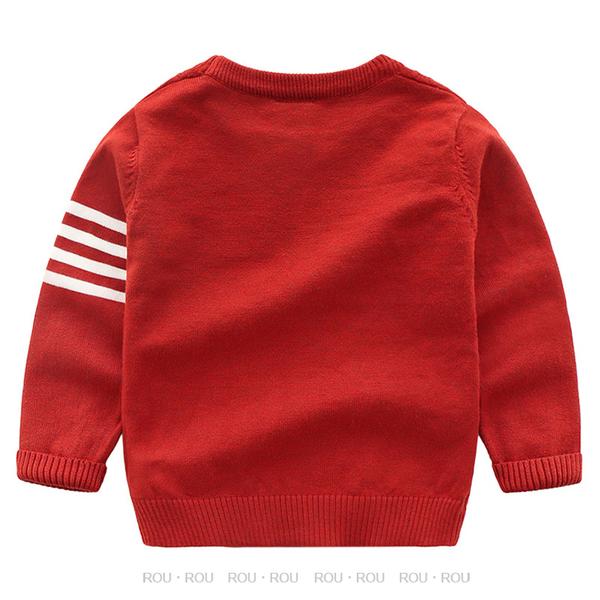 歐美男童毛衣。ROUROU。秋冬男童中小童寶寶純棉菱格針織毛衣 上衣 0131-298(此款版偏小)
