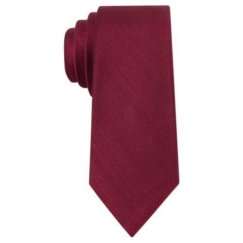 MICHAEL KORS-Luxe時尚絲綢混搭窄領帶(紅)