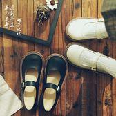 ins文藝單鞋娃娃鞋軟妹厚底一字扣女鞋瑪麗珍鞋復古chic小皮鞋吾本良品