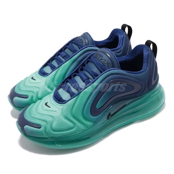Nike Wmns Air Mx 720 Sea Forest 慢跑鞋 藍 黑 漸層 大氣墊 運動鞋 女鞋【PUMP306】 AR9293-400
