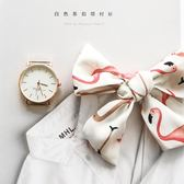 簡約火烈鳥絲帶手錶女學生韓版簡約小清新腕錶潮流ulzzang石英錶   9號潮人館