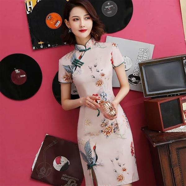 旗袍年輕款少女中國風改良版連身裙復古2020年學生夏裝新款小個子 【ifashion·全店免運】
