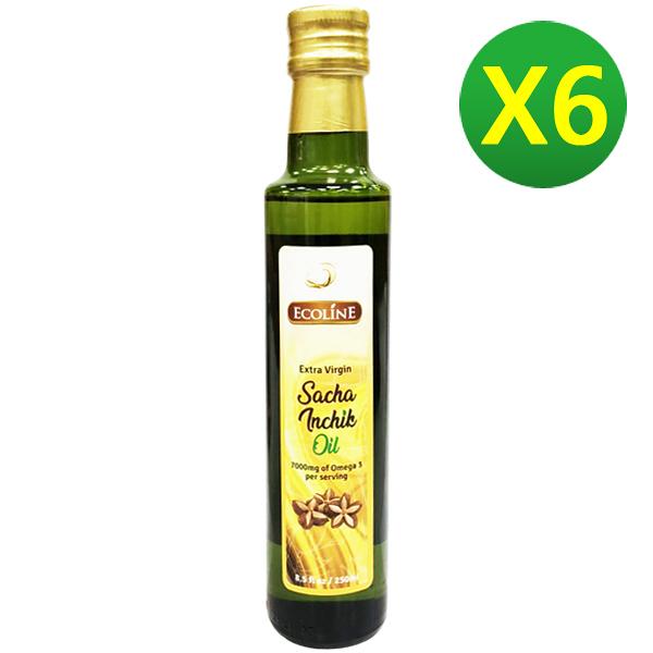 祕魯進口冷壓初榨印加果油-六瓶特惠組(250毫升/瓶)