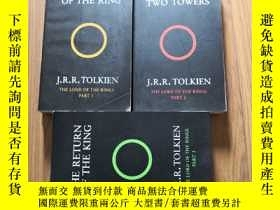 二手書博民逛書店The罕見Lord of the Rings 1、2、3(《魔戒