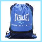 EVERLAST 拳擊運動系列-休閒多功能束口袋後背包 藍 4725320082 鞋全家福