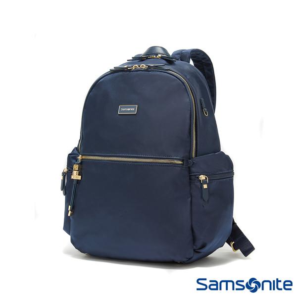 特價+好禮 Samsonite 新秀麗【KARISSA 34N】14吋筆電後背包 暗袋 簡約 輕量尼龍 可插掛 減壓背帶