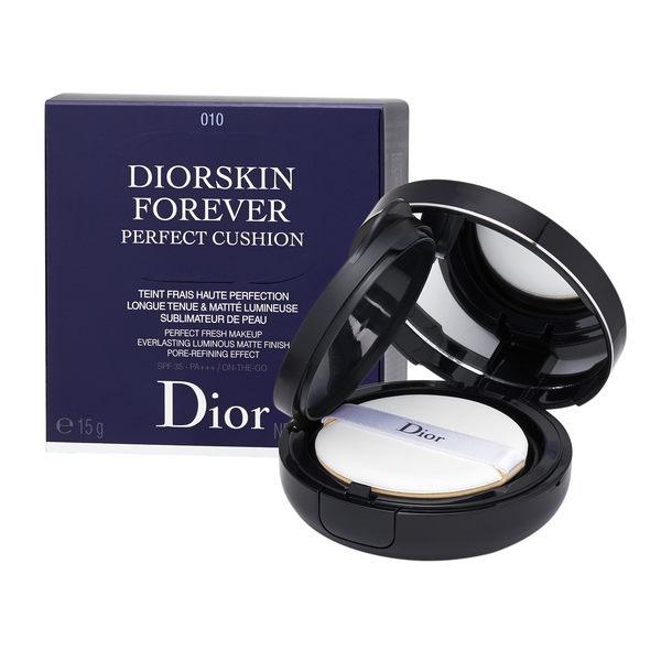 Christian Dior 迪奧 DiorSkin Forever 恆久貼肌氣墊粉底 SPF 35 - PA +++0.52oz, 15g 010 Ivory【玫麗網】
