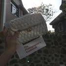 同款編織包女包手工包diy布條線材料包小香風斜跨小方包 洛小仙女鞋