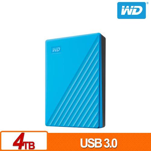 (2019新款) WD My Passport 4TB 藍色 2.5吋 USB3.0 外接硬碟 WDBPKJ0040BBL-WESN