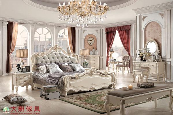 【大熊傢俱】910 韓戀 法式床 雙人床 皮床 六尺床 歐式床 床台 另售化妝台 床頭櫃 床尾凳