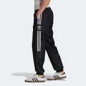 J- adidas ORIGINALS TRACK PANTS 黑白 三線 三葉草 防風 休閒 運動 長褲 男 FM9886