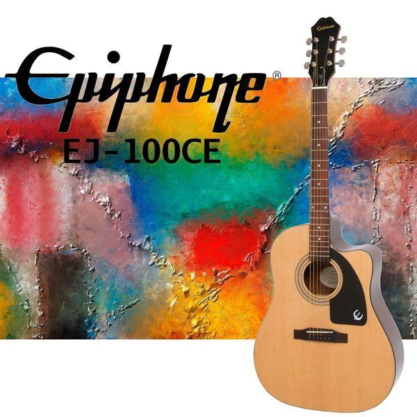 【非凡樂器】Epiphone AJ-100CE 可插電民謠吉他 電木吉他/原廠公司貨/保固一年/附原廠配備