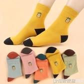 刺繡襪子女可愛日系卡通少女心中筒襪秋冬加厚純棉長襪子女ins潮 印象