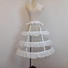 裙撐鳥籠撐3層lolita魚骨鋼圈暴力裙撐鐘形撐A字鐘型撐洋裝標配荷葉邊 盯目家