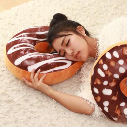 【葉子小舖】仿真甜甜圈抱枕/食物抱枕/靠墊/屁墊/坐墊/午睡枕/趴睡枕/糖霜面包/牛角/可頌