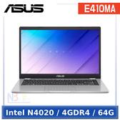 ASUS E410MA-0111WN4020 14吋 【0利率】 入門款 筆電 (Intel N4020/4GDR4/64G/W10HS)