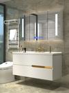 浴櫃 簡約現代浴室櫃組合輕奢衛生間洗漱台洗臉池洗手面盆衛浴廁所吊櫃【八折促銷】