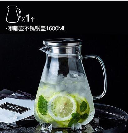 茶壺 玻璃冷水壺家用扎壺茶壺套裝超大容量燒涼白開水杯耐熱高溫涼水壺【快速出貨八折下殺】