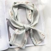 絲巾-春夏領巾絲巾小長條韓國小絲巾女百搭多功能裝飾網紅同款發帶絲帶