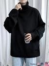 熱賣毛衣 寬鬆慵懶風套頭高領毛衣男士秋冬加厚復古日系外穿港風針織打底衫【618 狂歡】