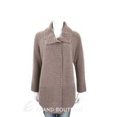 Max Mara-WEEKEND 咖啡灰織紋拼接羊毛針織外套(100%WOOL) 1710108-86