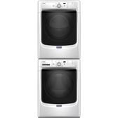 含標準安裝 MAYTAG 美泰克 雙層滾筒乾洗衣機組合 桶裝瓦斯型 MHW5500FW + 8TMGD6630HW