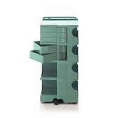 B-Line Boby Mod.L H94.5cm 巴比 多層式系統 收納推車 特高尺寸 - 黃綠特殊色系列(湖水綠 - 五抽屜)