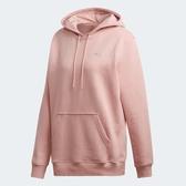 X-adidas ADILETTE HOODIE 女裝 長袖 帽T 休閒 袋鼠口袋 保暖 粉 EC9355