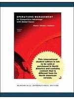 二手書博民逛書店 《Operations Management for Competitive Advantage》 R2Y ISBN:0071115536│RichardB.Chase