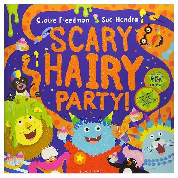 【麥克書店】Scary Hairy Party萬聖節Halloween節慶英文繪本