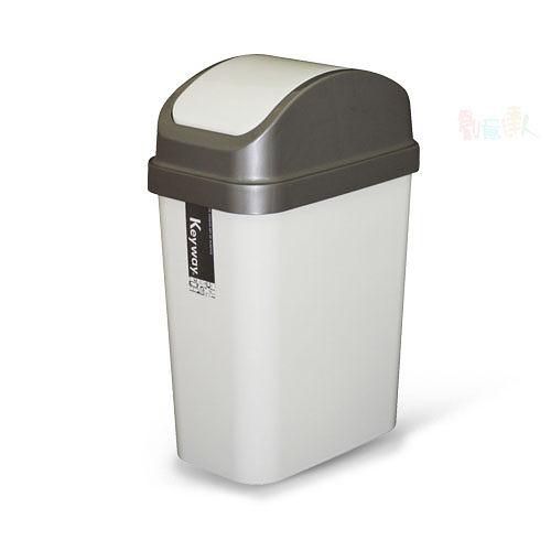 《真心良品》6公升附蓋垃圾桶(3入)