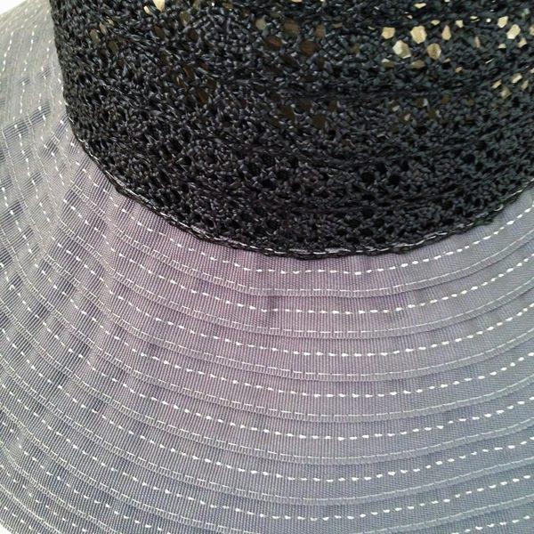 防曬UP!!小顏效果UP!台灣製 紙紗編織 蕾絲寬緣淑女帽(共兩色)