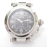 Cartier 卡地亞 黑色面盤日期窗自動機械腕錶 Pasha C 【二手名牌 BRAND OFF】